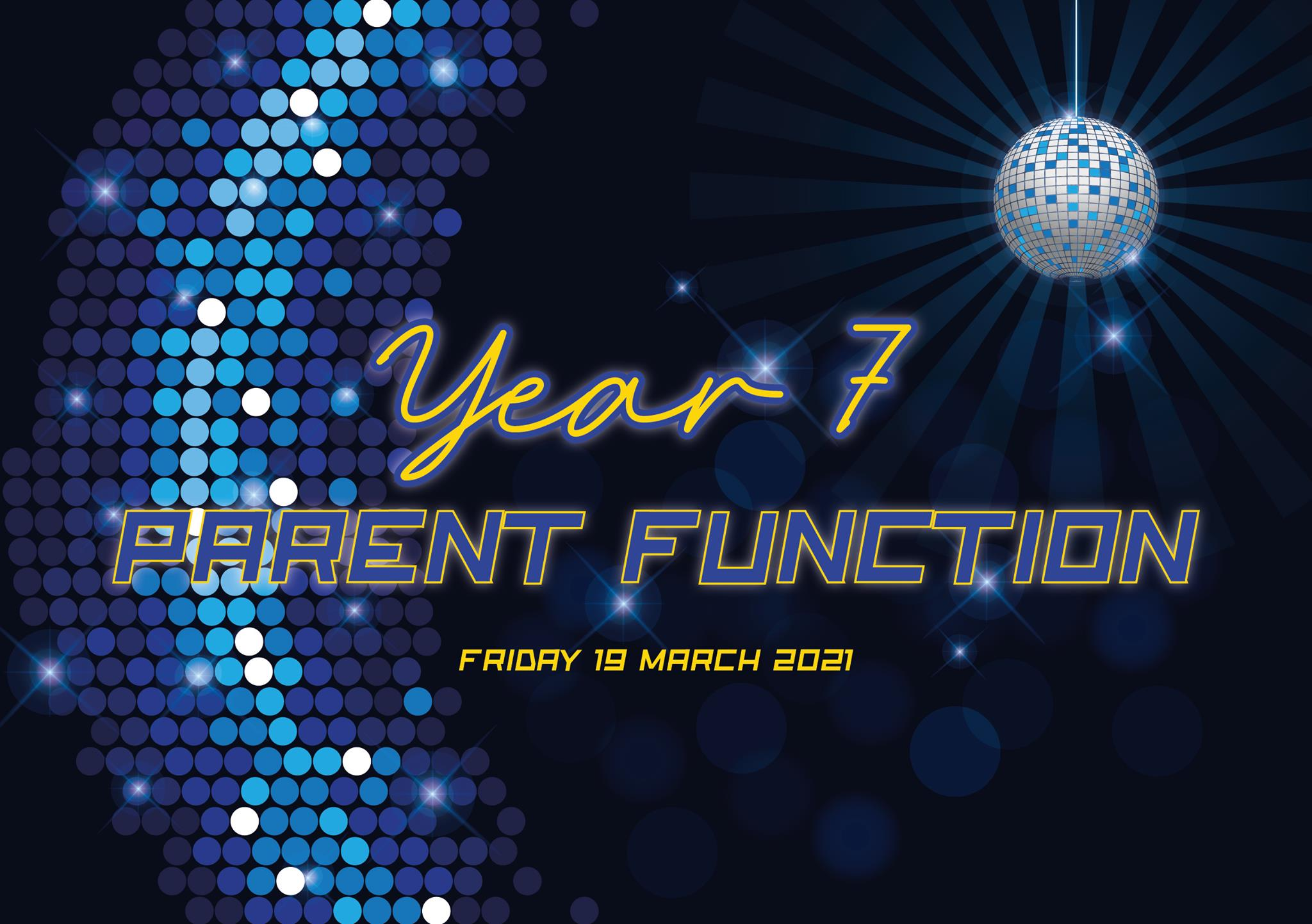 Year 7 Parent Dinner | Friday, 19 March 2021