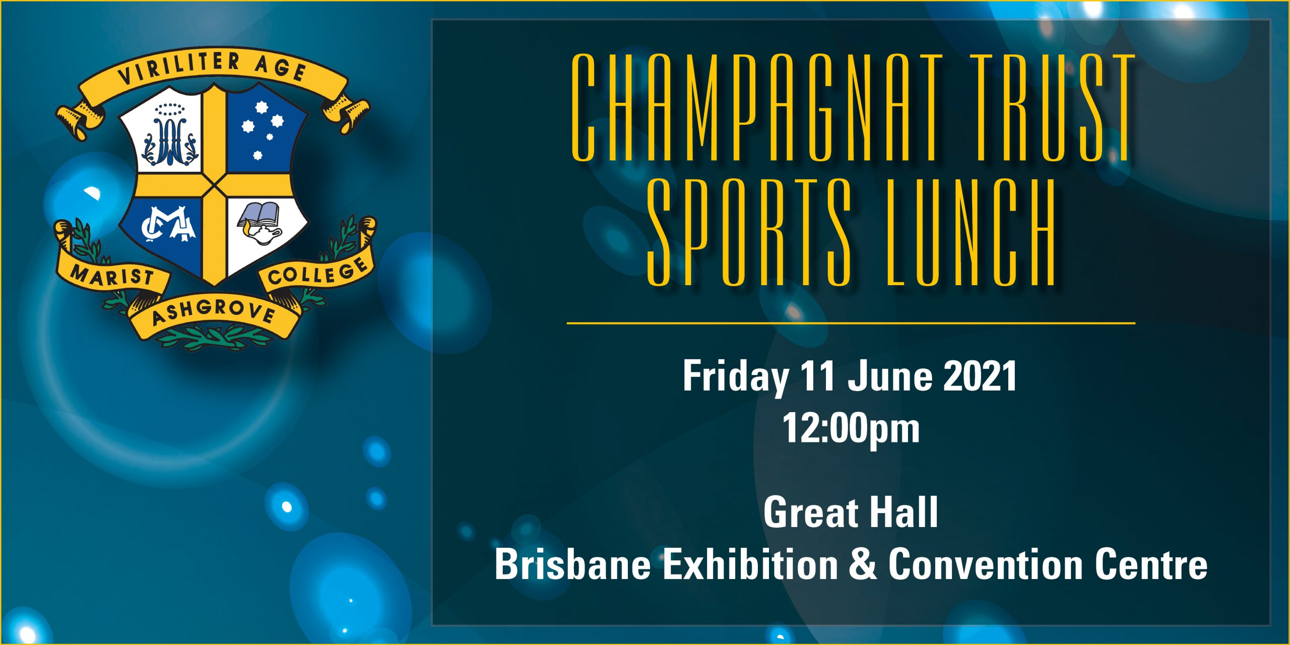 Champagnat Trust Sports Lunch | Friday 11 June 2021